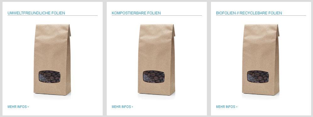 Umweltfreundliche kompostierbare und recyclebare Folien für Lebensmittel